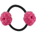 Japan flower pony-tail holder fuchsia gold star - PPMC