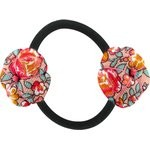 Japan flower pony-tail holder peach flower - PPMC