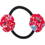 Japan flower pony-tail holder cherry cornflower - PPMC