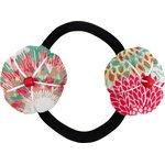 Japan flower pony-tail holder powdered  dahlia - PPMC