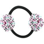 Japan flower pony-tail holder neon shards - PPMC
