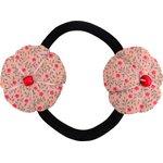 Goma de pelo con flores mini flor rosa - PPMC