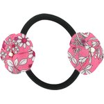 Japan flower pony-tail holder pink violette - PPMC