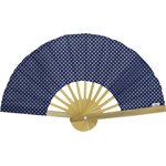 Hand-held fan navy gold star - PPMC