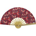 Hand-held fan vermilion foliage - PPMC