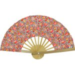 Hand-held fan peach flower - PPMC