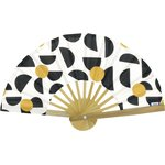Hand-held fan golden moon - PPMC