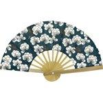 Hand-held fan paradis bleu - PPMC