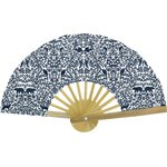 Hand-held fan scandinave navy blue - PPMC