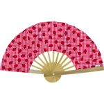 Hand-held fan ladybird gingham - PPMC
