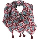 Pom pom scarf ruby cherry tree - PPMC