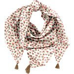 Pom pom scarf confetti aqua - PPMC
