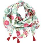 Pom pom scarf powdered  dahlia - PPMC