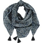 Foulard pompon  eclats bleu nuit - PPMC