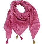 Pom pom scarf etoile or fuchsia - PPMC