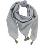 Foulard pompon etoile or gris - PPMC