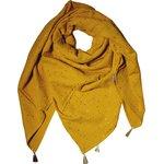 Foulard pompon gaze jaune or - PPMC