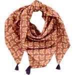 Pom pom scarf géotigre - PPMC