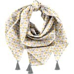 Pom pom scarf pastel drops - PPMC