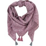 Pom pom scarf plum lichen - PPMC