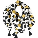 Pom pom scarf golden moon - PPMC