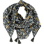 Pom pom scarf  melting plum' - PPMC