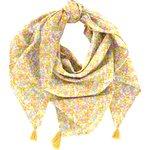 Pom pom scarf mimosa jaune rose - PPMC