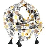Pom pom scarf yellow sheep - PPMC