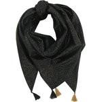 Foulard pompon noir pailleté - PPMC