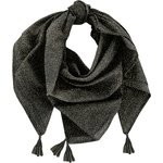 Pom pom scarf noir pailleté - PPMC
