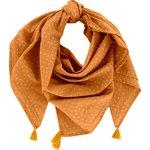 Pom pom scarf caramel golden straw - PPMC