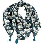Foulard pompon paradis bleu - PPMC