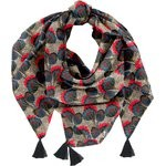 Pom pom scarf royal poppy - PPMC