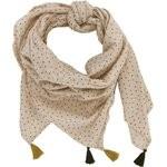 Pom pom scarf pink coppers spots - PPMC