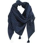 Pom pom scarf navy blue spots - PPMC