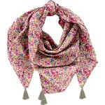 Pom pom scarf purple meadow - PPMC