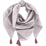 Pom pom scarf gray copper triangle - PPMC