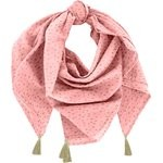 Pom pom scarf powdered gold triangle - PPMC