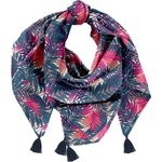 Pom pom scarf tropical fire - PPMC