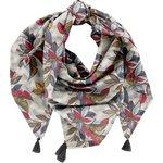 Pom pom scarf wax fleuri - PPMC