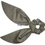 Short tail scrunchie khaki lurex gauze - PPMC