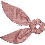 Short tail scrunchie dusty pink lurex gauze - PPMC