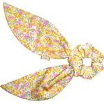 Short tail scrunchie mimosa jaune rose - PPMC