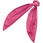 Long tail scrunchie fuchsia gold star - PPMC