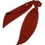 Long tail scrunchie gauze terra cotta - PPMC