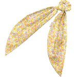 Long tail scrunchie mimosa jaune rose - PPMC