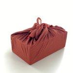 Furoshiki moyen 48 x 48 cm gaze lurex terracotta - PPMC