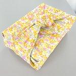 Furoshiki medium 48x48 mimosa jaune rose - PPMC