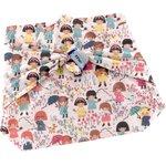 Furoshiki small 35 x 35 petites filles pop - PPMC