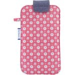 Big phone case small flowers pink blusher - PPMC